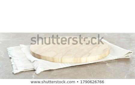 空っぽ プレート カラフル テーブルクロス キッチン 表 ストックフォト © inxti