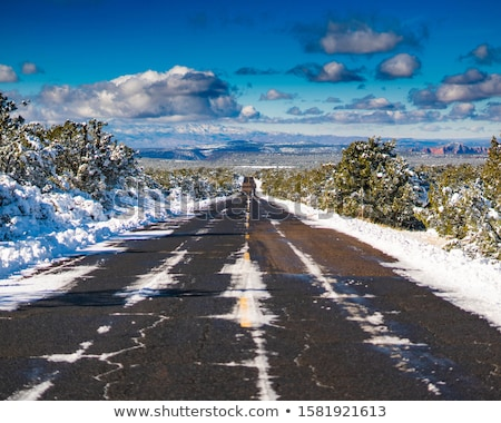 Arizona autoroute vue neige pic montagnes Photo stock © lunamarina