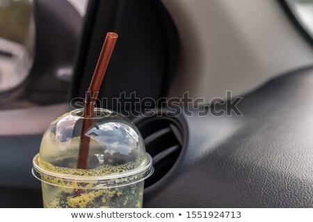 冷たい コーヒー ドリンク 氷 車 ミルク ストックフォト © Kheat