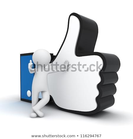 Uomo 3d come simbolo isolato bianco mano Foto d'archivio © Kirill_M