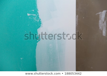 alçıpan · yeşil · ev · duvar · arka · plan · işçi - stok fotoğraf © lunamarina