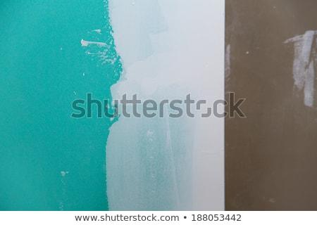 drywall hydrophobic plasterboard in green plaste seam Stock photo © lunamarina