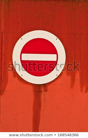 No entry traffic sign Island of Fanoe in Denmark Stock photo © jeancliclac