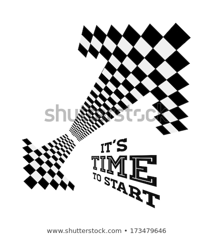 Clock arrows in the form of checkered flag Stock photo © m_pavlov
