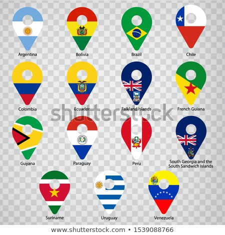 Map marker with flag-set fifteen Stock photo © Ecelop