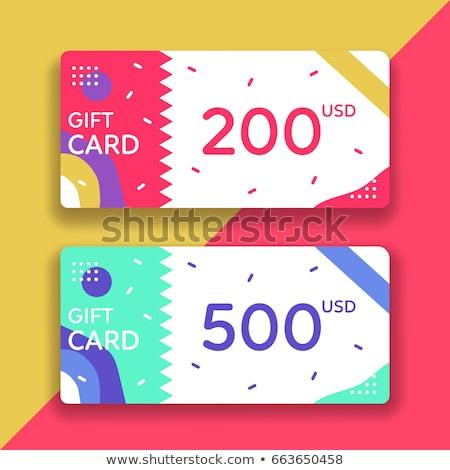 Moderne eenvoudige gift card sjabloon wazig Stockfoto © orson