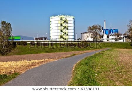промышленности парка красивой пейзаж Франкфурт небе Сток-фото © meinzahn
