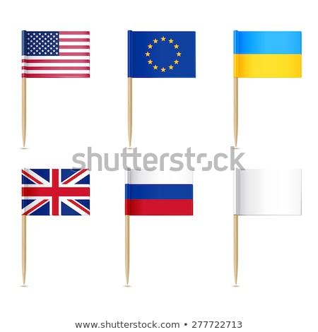 Сток-фото: Украина · флаг · продовольствие · карта · синий · путешествия