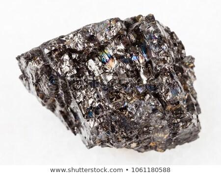 áspero espécime preto carvão branco Foto stock © michaklootwijk
