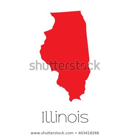 Illinois büyük boyut parti fil simge Stok fotoğraf © tony4urban