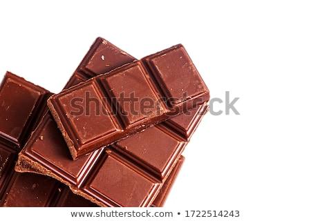 Csokoládé rácsok boglya tányér egészségtelen étkezés étel Stock fotó © natika