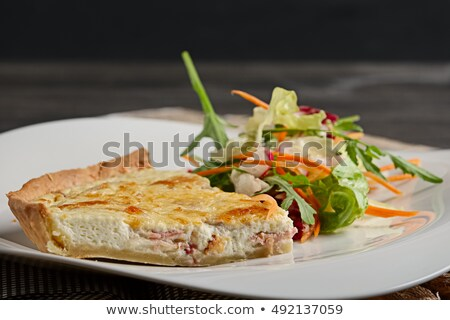 Bacon quiche with salad Stock photo © raphotos