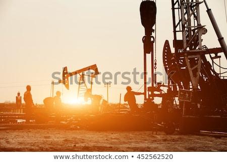 oil workers on oilfield Stock photo © goce