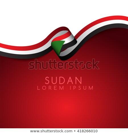 Zászló Szudán témák ötlet terv művészet Stock fotó © kiddaikiddee