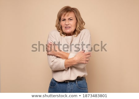 Mature student shivering Stock photo © bmonteny