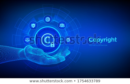 Derechos de autor ilustración teléfono tecnología ley móviles Foto stock © 72soul