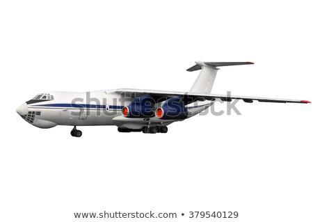 Orosz öreg repülőgép repülőgép kétfedelű repülőgép izolált Stock fotó © Hochwander