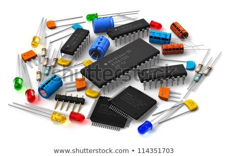 Eletrônico componente isolado branco tecnologia rádio Foto stock © hin255