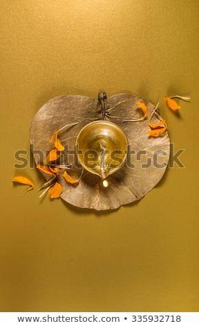 Altın çiçek dizayn sanat yağ lamba Stok fotoğraf © rioillustrator