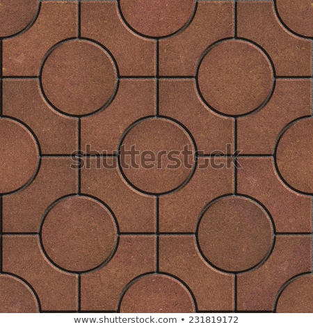 Brown Pavement - Circles inside Squares. Stock photo © tashatuvango