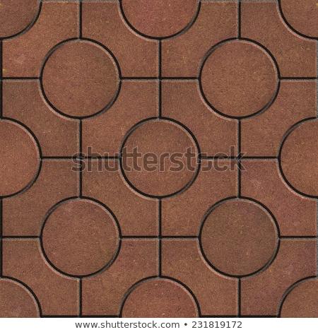 baksteen · cirkels · verschillend · gekleurd · Rood · bakstenen - stockfoto © tashatuvango