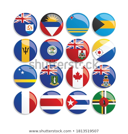 illustration of map on flag button of anguilla stock photo © istanbul2009