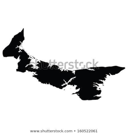 mapa · isla · del · príncipe · eduardo · isla · Canadá · aislado · ilustración - foto stock © rbiedermann