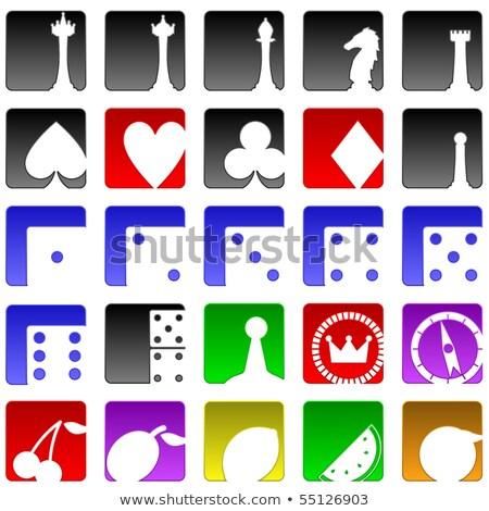 Diamond chess Bishop card, vector illustration Stock photo © carodi