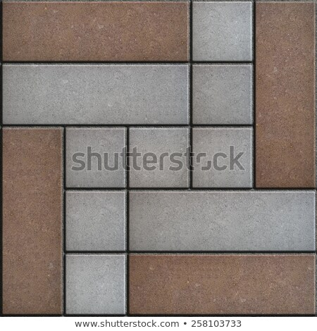 brown  gray pavement consisting of rectangles and squares stock photo © tashatuvango