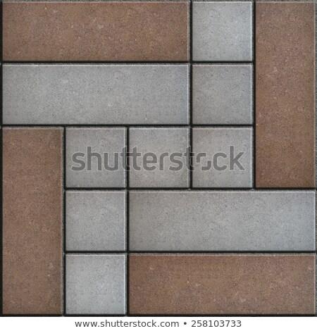 Marrón gris pavimento sin costura textura Foto stock © tashatuvango