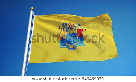 New Jersey state flag against blue sky Stock photo © njnightsky