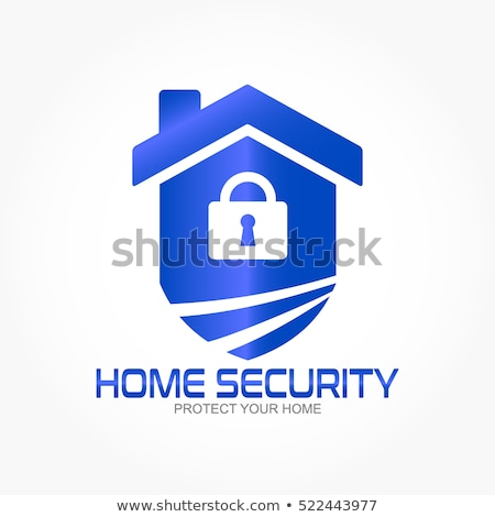 home security with red shield and padlock stock photo © anna_leni