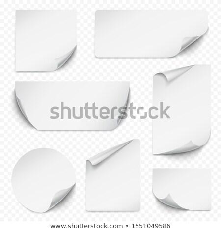 Coleção adesivo enrolado borda diferente cor Foto stock © zybr78