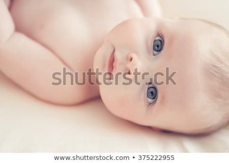 ártatlan baba kék szemek portré fiú ház Stock fotó © wavebreak_media