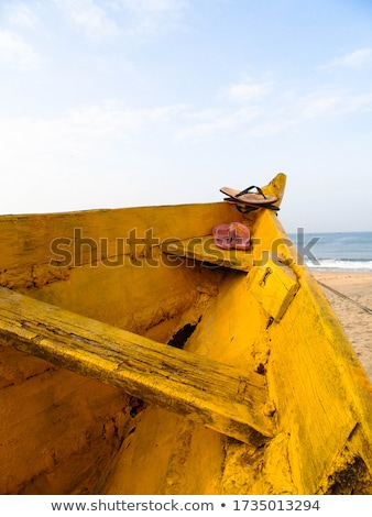 flip flop on a beautiful beach india goa stock photo © mcherevan
