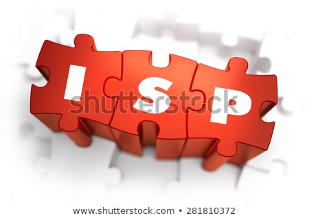 ISP - Text on Red Puzzles. Stock photo © tashatuvango