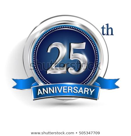 Stok fotoğraf: 25th Silver Anniversary Invitation