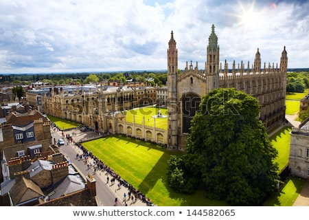 Cambridge inglaterra aquarela arte imprimir linha do horizonte Foto stock © chris2766