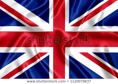 Foto stock: Bandera · Reino · Unido · resumen · rojo · ola