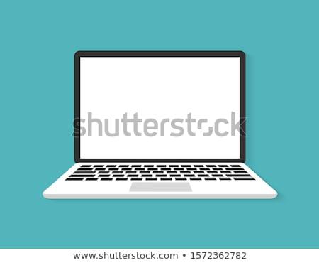 Laptop, modern network symbols concept Stock photo © JanPietruszka