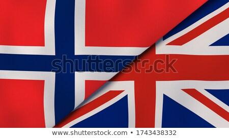 Zjednoczone Królestwo Norwegia flagi puzzle odizolowany biały Zdjęcia stock © Istanbul2009