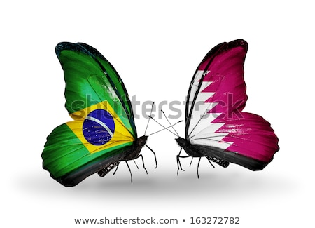 Brazil and Qatar Flags  Stock photo © Istanbul2009