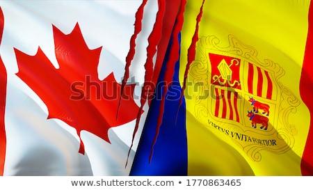Канада Андорра флагами головоломки изолированный белый Сток-фото © Istanbul2009