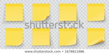 Empty yellow post it Stock photo © fuzzbones0