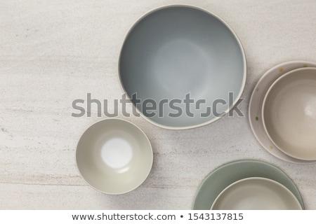 Handmade ceramic circle Stock photo © Taigi