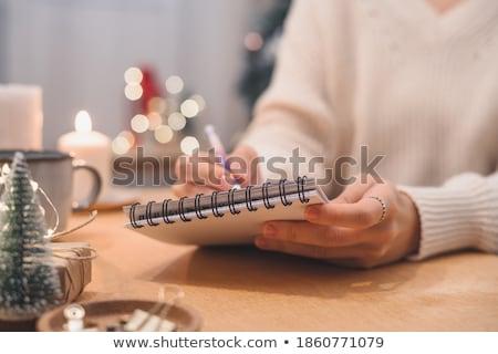 Kerstman notebook to do list werk bureau lege Stockfoto © stevanovicigor
