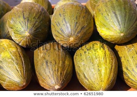 melão · papai · noel · comida · fundo · verde · mercado - foto stock © lunamarina