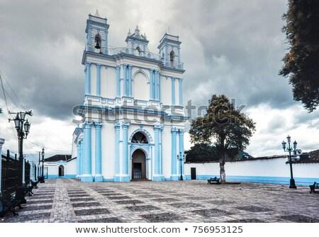основной · белый · синий · православный · Церкви · деревне - Сток-фото © lunamarina