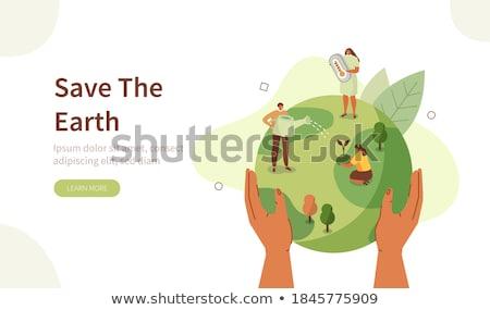 изучения · листьев · небольшая · группа · дети · увеличительного · очки - Сток-фото © morphart