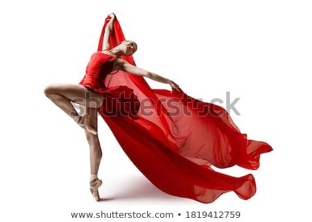Mooie ballerina jonge geïsoleerd roze Stockfoto © svetography
